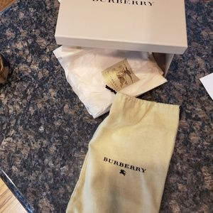 Burberry box, bag, and tissue